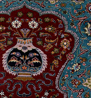 detail of prayer rug